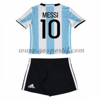 maillot de foot équipe nationale enfant Argentin 2016 Lionel Messi 10 maillot domicile manche longue