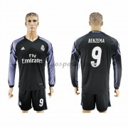 maillot de foot La Liga Real Madrid 2016-17 Benzema 9 maillot third manche longue..
