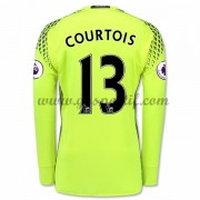 maillot de foot Premier League Chelsea 2016-17 Courtois 13 gardien de but maillot domicile manche lo..