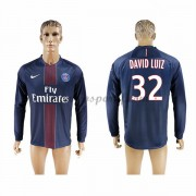 maillot de foot Ligue 1 Paris Saint Germain Psg 2016-17 David Luiz 32 maillot domicile manche longue..