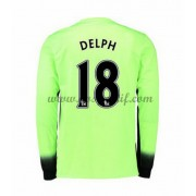 maillot de foot Premier League Manchester City 2016-17 Delph 18 maillot third manche longue..