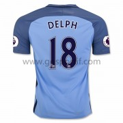 maillot de foot Premier League Manchester City 2016-17 Delph 18 maillot domicile..