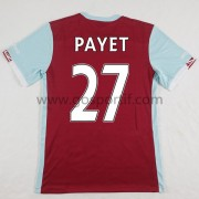 maillot de foot Premier League West Ham United 2016-17 Dimitri Payet 27 maillot domicile..