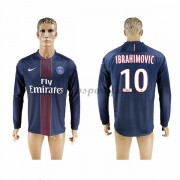 maillot de foot Ligue 1 Paris Saint Germain Psg 2016-17 Ibrahimovic 10 maillot domicile manche longu..