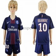 Paris Saint Germain PSG maillot de foot enfant 2016-17 Ibrahimovic 10 maillot domicile..
