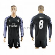 maillot de foot La Liga Real Madrid 2016-17 Kroos 8 maillot third manche longue..