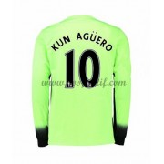 maillot de foot Premier League Manchester City 2016-17 Kun Aguero 10 maillot third manche longue..