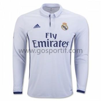 maillot de foot La Liga Real Madrid 2016-17 maillot domicile manche longue