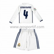 Real Madrid maillot de foot enfant 2016-17 Sergio Ramos 4 maillot domicile manche longue..
