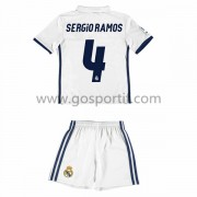 Real Madrid maillot de foot enfant 2016-17 Sergio Ramos 4 maillot domicile..