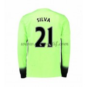 maillot de foot Premier League Manchester City 2016-17 Silva 21 maillot third manche longue..