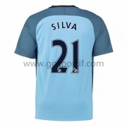maillot de foot Premier League Manchester City 2016-17 Silva 21 maillot domicile..
