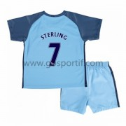 Manchester City maillot de foot enfant 2016-17 Sterling 7 maillot domicile..