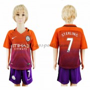 Manchester City maillot de foot enfant 2016-17 Sterling 7 maillot third..