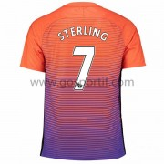 maillot de foot Premier League Manchester City 2016-17 Sterling 7 maillot third..