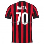 maillot de foot Series A AC Milan 2017-18 Bacca 70 maillot domicile..