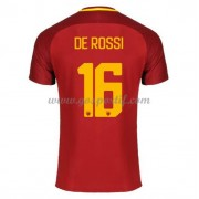 maillot de foot Series A AS Roma 2017-18 De Rossi 16 maillot domicile..