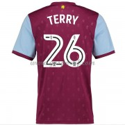 maillot de foot Premier League Aston Villa 2017-18 John Terry 26 maillot domicile..