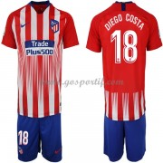 Atletico Madrid maillot de foot enfant 2018-19 Diego Costa 18 maillot domicile..