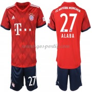 Bayern Munich maillot de foot enfant 2018-19 David Alaba 27 maillot domicile..