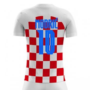 maillot de foot Croatie Coupe du monde 2018 Luka Modric 10 maillot domicile