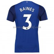maillot de foot Premier League Everton 2017-18 Baines 3 maillot domicile..