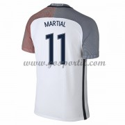 maillot de foot équipe nationale France 2016 Anthony Martial 11 maillot extérieur..