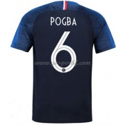 maillot de foot France Coupe du monde 2018 Paul Pogba 6 maillot domicile..