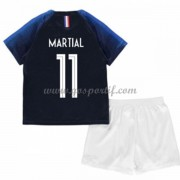maillot de foot équipe nationale enfant France 2018 Anthony Martial 11 maillot domicile..