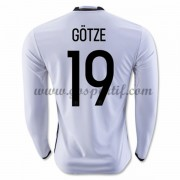 maillot de foot équipe nationale Allemagne 2016 Long Sleeve Gotze 19 Home Soccer Jersey..
