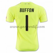 maillot de foot équipe nationale Italie 2016 gardien de but Buffon 1 maillot vert..