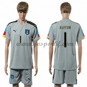 maillot de foot équipe nationale Italie 2016 gardien de but Buffon 1 maillot gris..