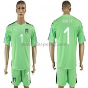 maillot de foot équipe nationale Italie 2018 gardien de but Buffon 1 Vert maillot..