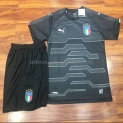 maillot de foot équipe nationale enfant Italie 2018 gardien de but Gris maillot..