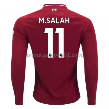 maillot de foot Premier League Liverpool 2018-19 Mohamed Salah 11 maillot domicile manche longue