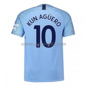 maillot de foot Premier League Manchester City 2018-19 Kun Aguero 10 maillot domicile..