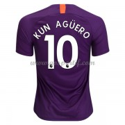 maillot de foot Premier League Manchester City 2018-19 Kun Aguero 10 maillot third..