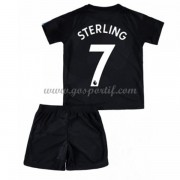 Manchester City maillot de foot enfant 2017-18 Raheem Sterling 7 maillot third..