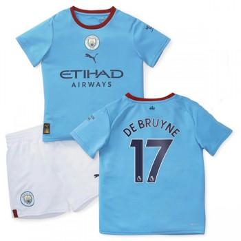 Manchester City maillot de foot enfant 2018-19 De Bruyne 17 maillot domicile