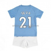 Manchester City maillot de foot enfant 2019-20 David Silva 21 maillot domicile..