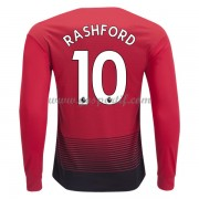 maillot de foot Premier League Manchester United 2018-19 Marcus Rashford 10 maillot domicile manche longue