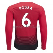 maillot de foot Premier League Manchester United 2018-19 Paul Pogba 6 maillot domicile manche longue