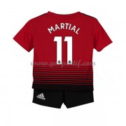 Manchester United maillot de foot enfant 2018-19 Anthony Martial 11 maillot domicile..