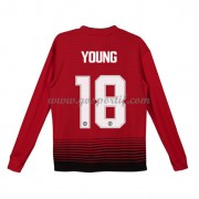 Manchester United maillot de foot enfant 2018-19 Ashley Young 18 maillot domicile manche longue..