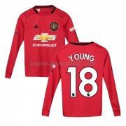 Manchester United maillot de foot enfant 2019-20 Ashley Young 18 maillot domicile manche longue..