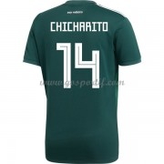 maillot de foot Mexique Coupe du monde 2018 Chicharito 14 maillot domicile..