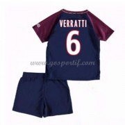 Paris Saint Germain PSG maillot de foot enfant 2017-18 Verratti 24 maillot domicile..