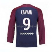 maillot de foot Ligue 1 Paris Saint Germain Psg 2017-18 Edinson Cavani 9 maillot domicile manche lon..