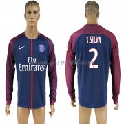 maillot de foot Ligue 1 Paris Saint Germain Psg 2017-18 Thiago Silva 2 maillot domicile manche longu..