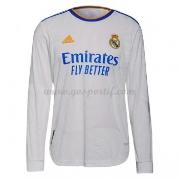 maillot de foot La Liga Real Madrid 2017-18 maillot domicile manche longue